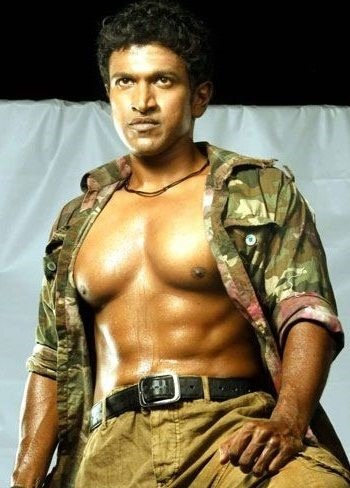 Sandalwood celebrity thinks with best six pack physique the movie has some fight scenes in which puneeths body is exposed and the six pack abs are seen altavistaventures Images
