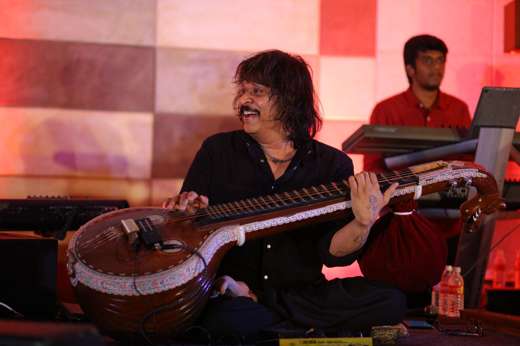 Veena Maestro Rajesh Vaidhya Honoured By Asia Book Of Records Photos  Tamil Gallery