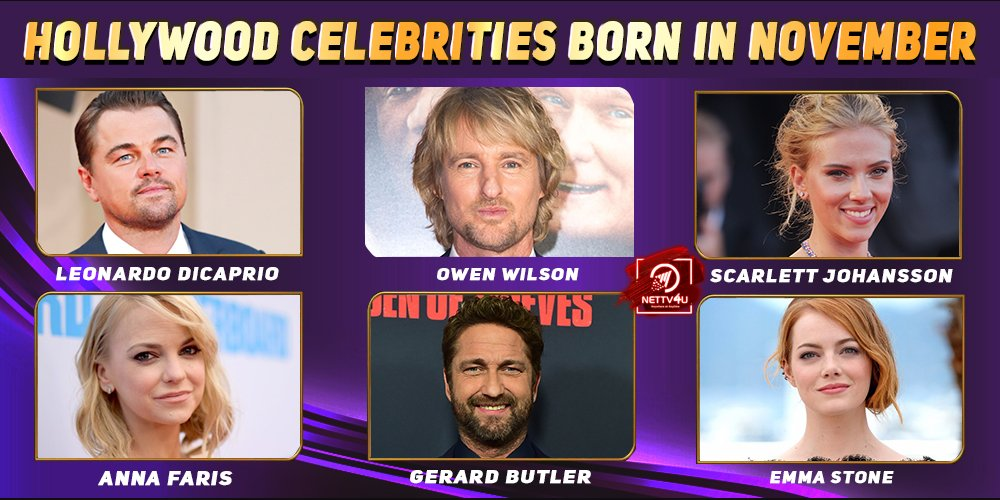 Top Hollywood Celebrities Who Were Born in November