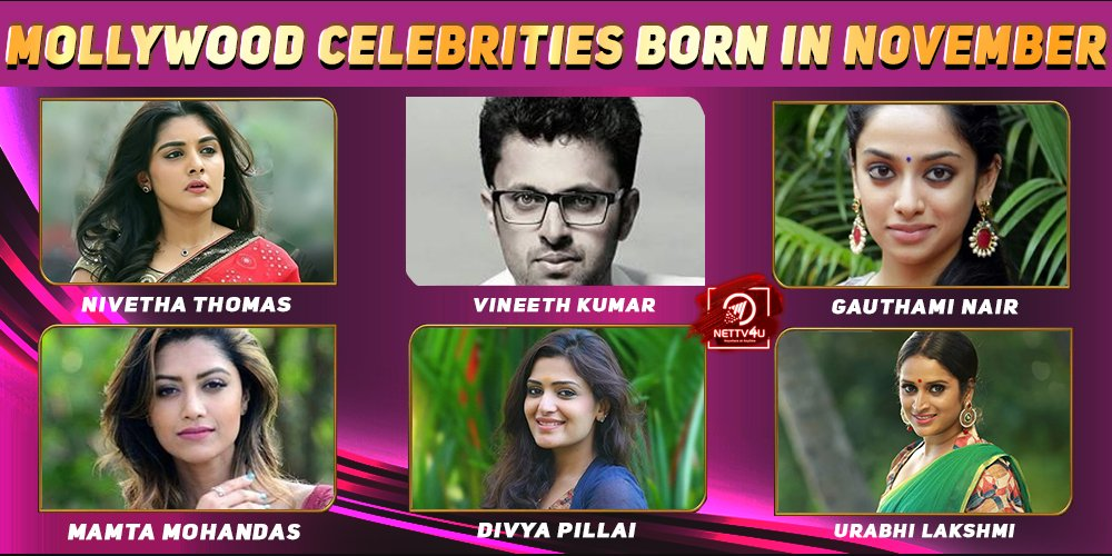 Top Mollywood Celebrities Who Were Born in November