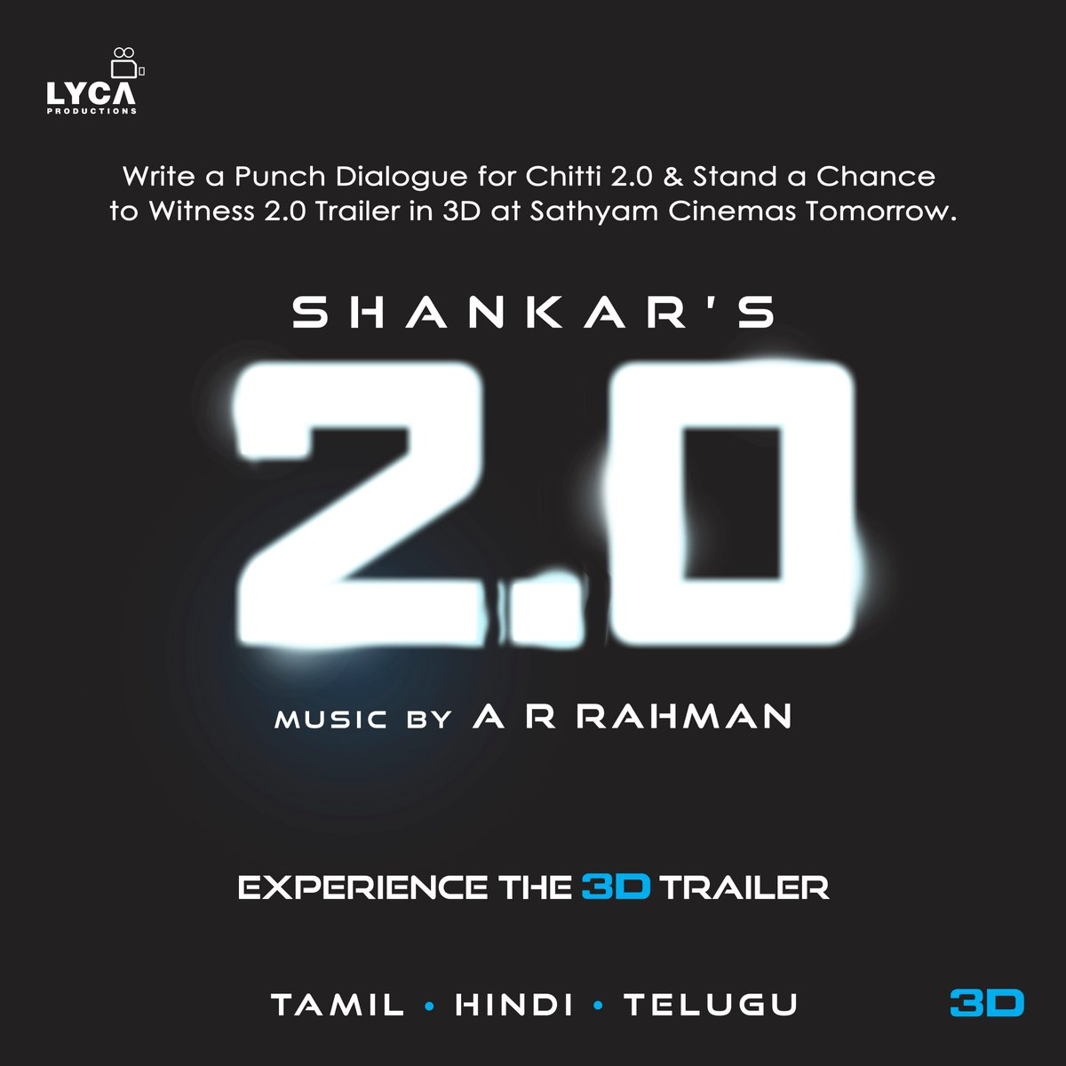 Want To Witness 2 0 Trailer In 3D ? Here Is Your Chance