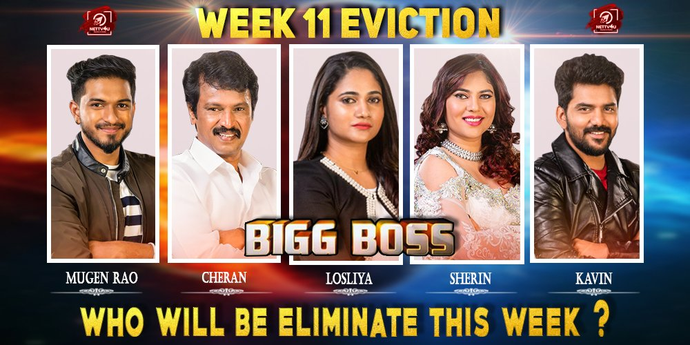 Bigg Boss Season 3 - Tamil - Week(11) Elimination