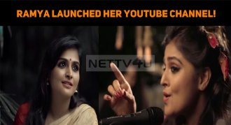 Ramya Nambeesan Launched Her YouTube Channel!
