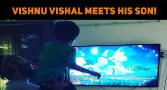 Vishnu Vishal Meets His Son!