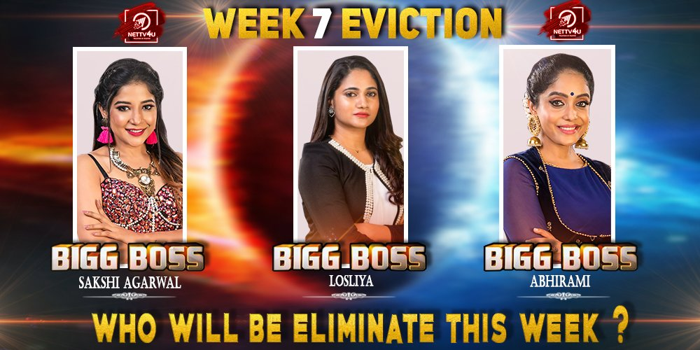 Bigg Boss Season 3 - Tamil - Week(7) Elimination