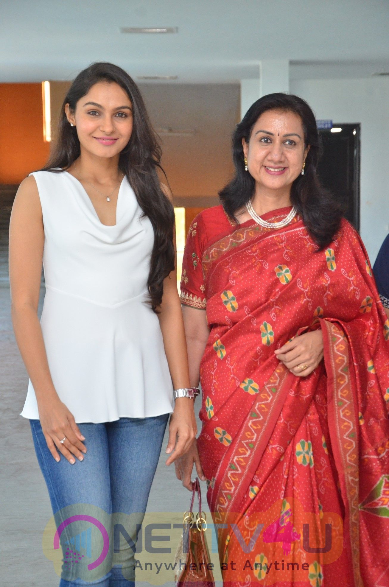Actress Andrea Jeremiah At Women's Day Celebrations At Jeppiar Engineering College With Special Panel Discussion Stills  Tamil G