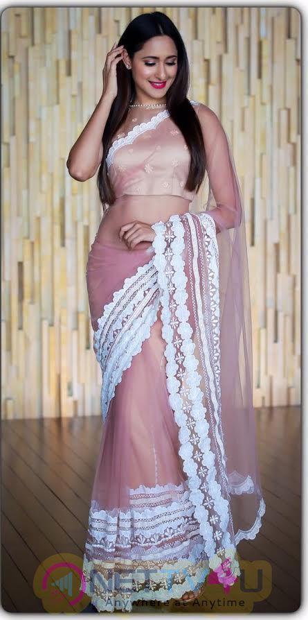 Pragya Jaiswal New Saree Stunning Photos  Telugu Gallery