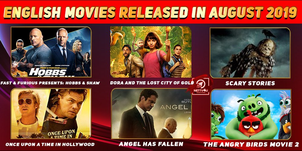 List Of English Movies Released In August 2019