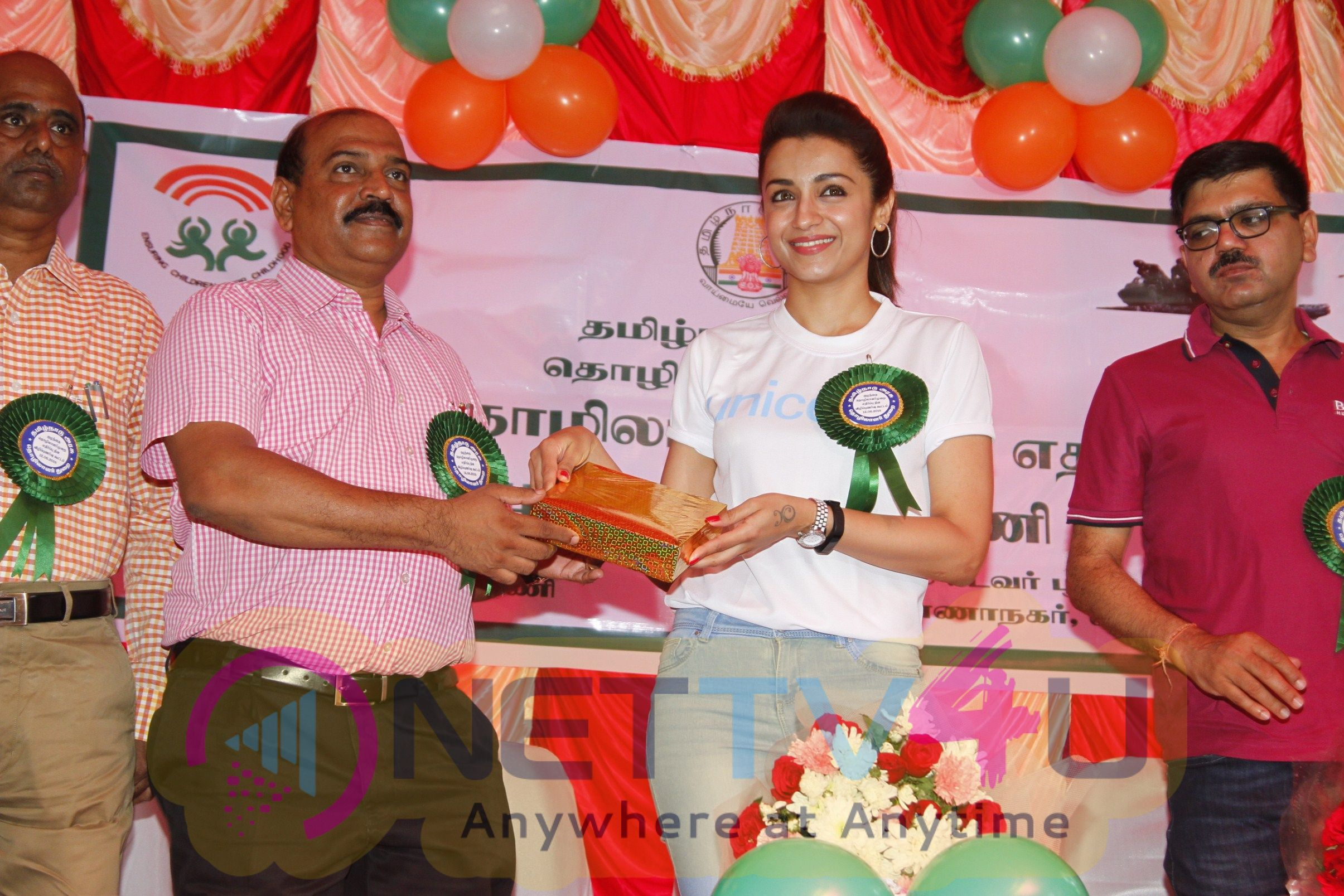 Trisha Join Hands In Child Labour Awareness Campaign  Tamil Gallery