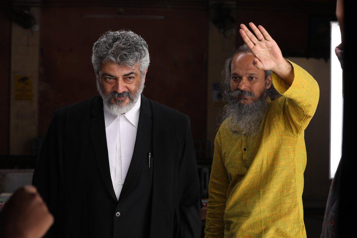 Nerkonda Paarvai Movie Working Stills Tamil Gallery