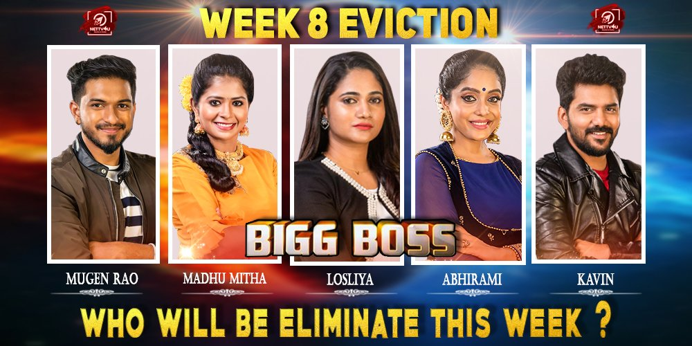Bigg Boss Season 3 - Tamil - Week(8) Elimination