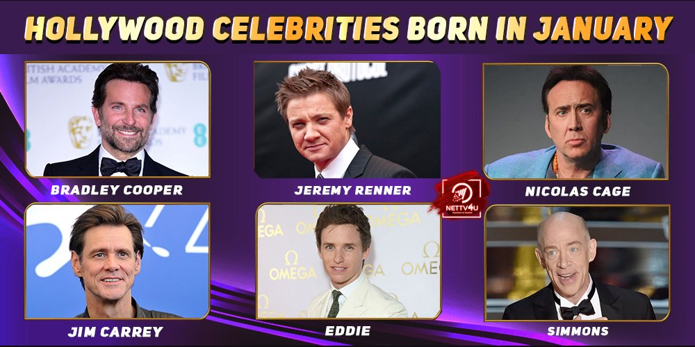 Top Hollywood Celebrities Who Were Born in January