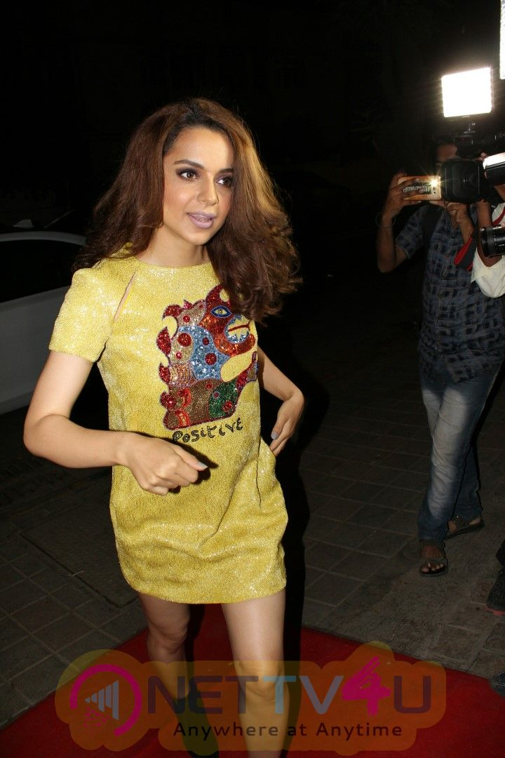 Kangana Ranaut Attends The Red Carpet Event Of Architectural Digest Of India Images Hindi Gallery