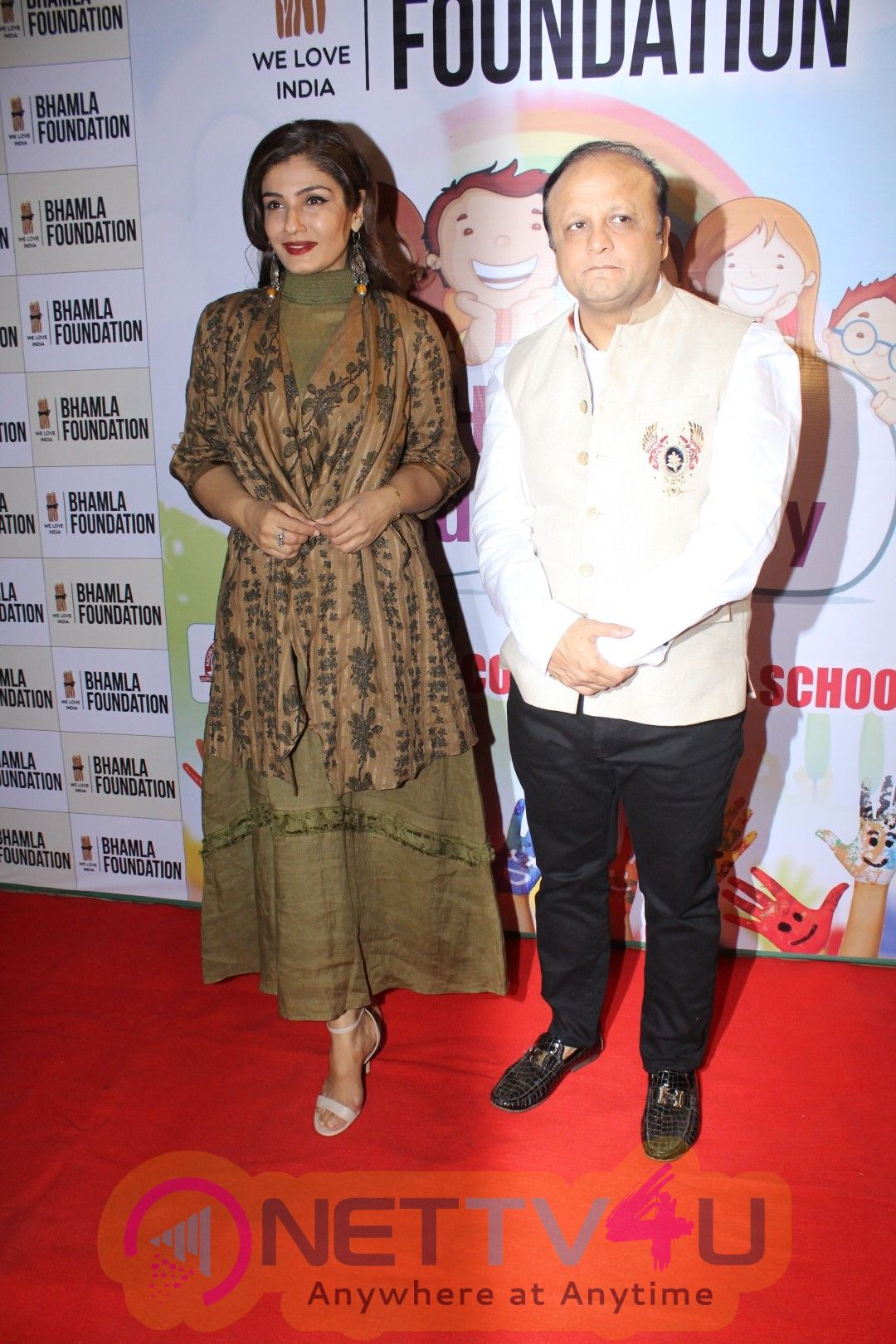 Raveena Tandon At Bhamla Foundation Host Children's Day Celebration With Physically Disabled Kids Stills Hindi Gallery