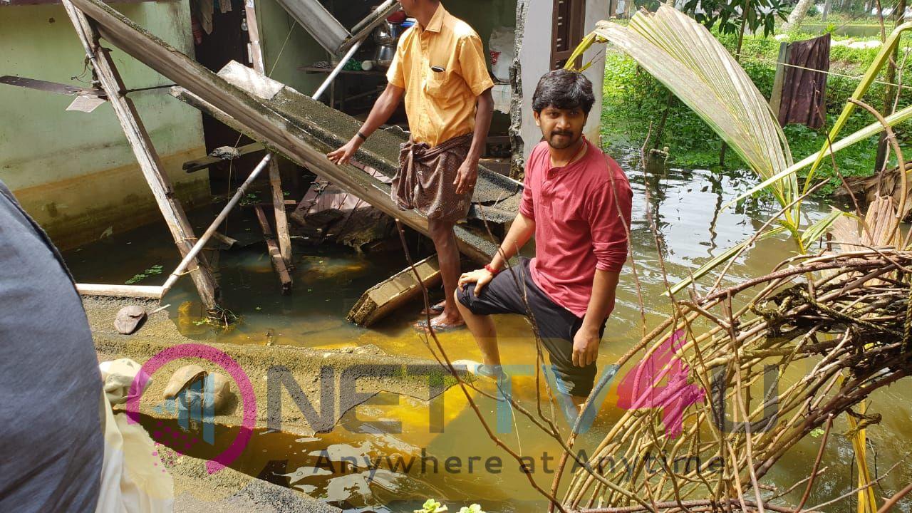 Actor Abi Saravanan Helps To Kerala Peoples Images Tamil Gallery