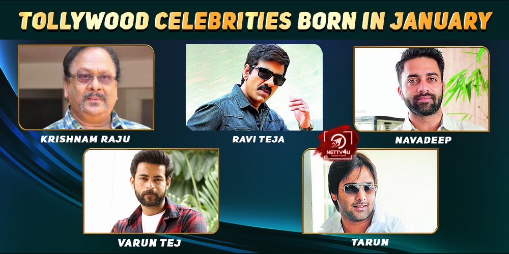 Top Tollywood Celebrities Who Were Born in January