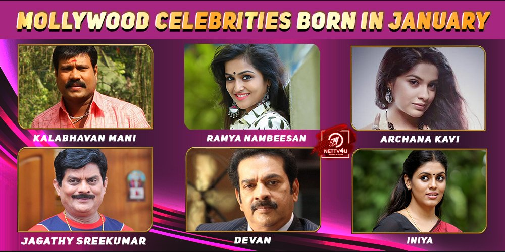 Top Mollywood Celebrities Who Were Born in January