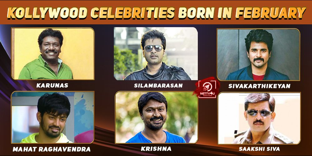 Top Kollywood Celebrities Who Were Born in February