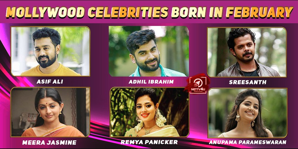 Top Mollywood Celebrities Who Were Born In February
