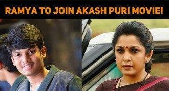 Ramya Krishnan To Join Akash Puri Movie!