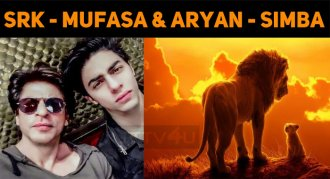 Shah Rukh As Mufasa And Aryan As Simba!