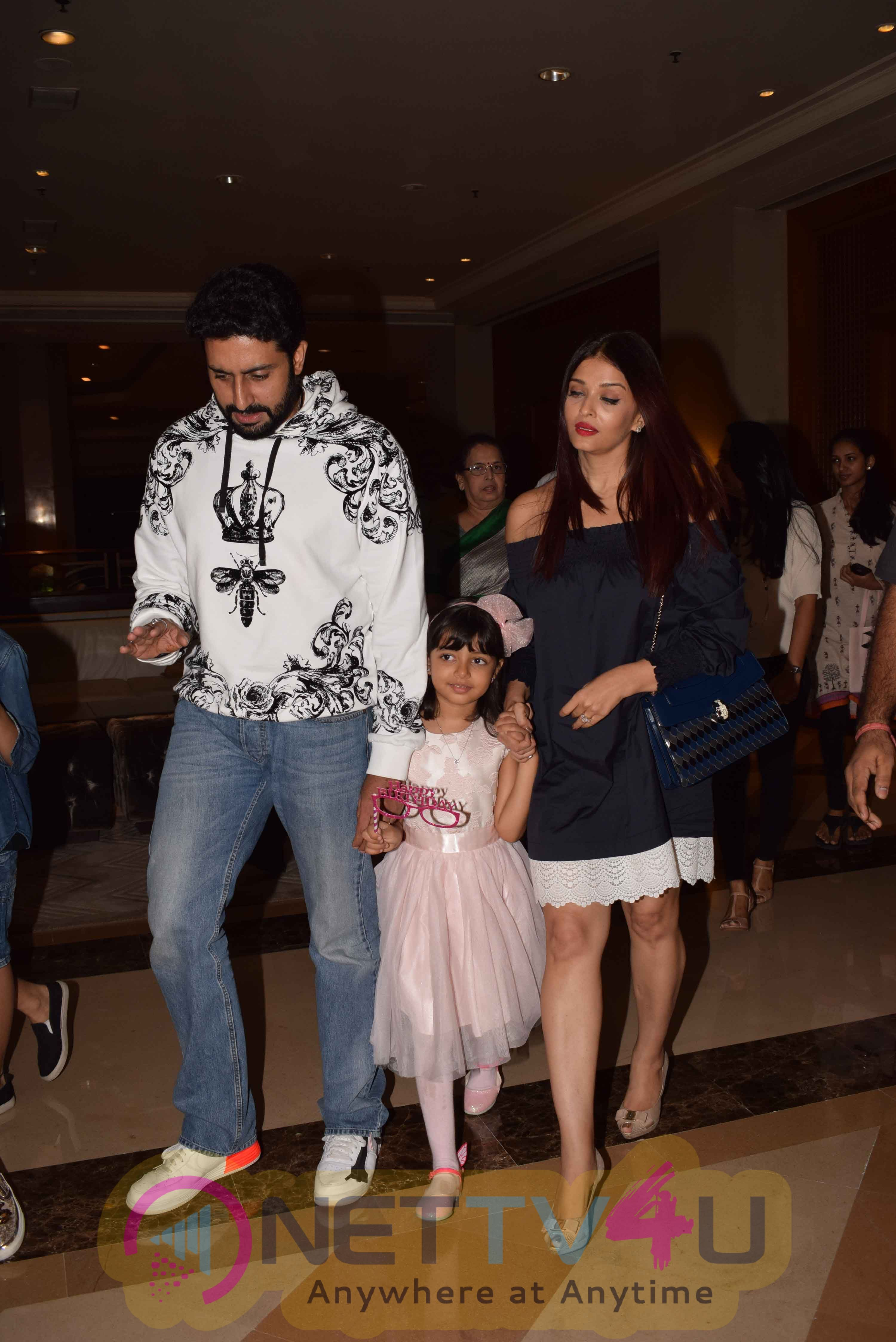 Aishwarya Rai & Abhishek Bachchan Celebrate Aaradhya Bachchan Birthday Stills Hindi Gallery