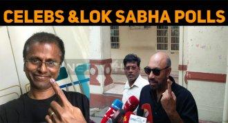 Cine Celebs Cast Their Vote For Lok Sabha Polls..
