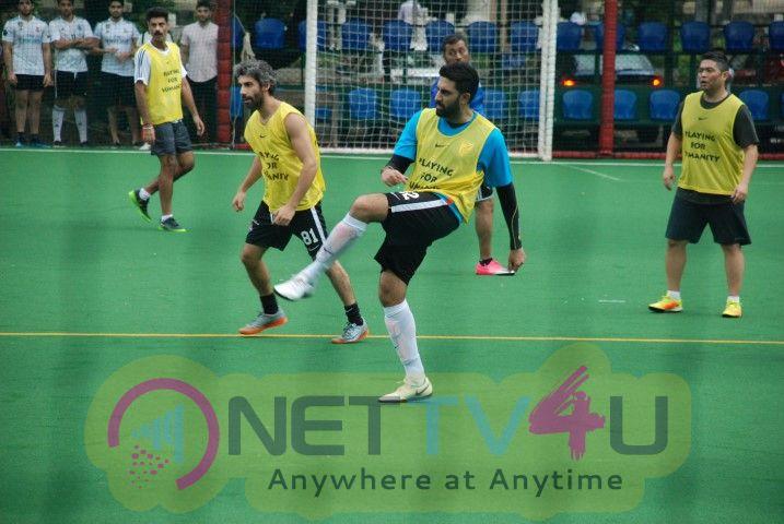 Abhishek Bachchan Came At Playing Football Hindi Gallery