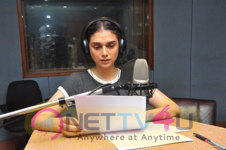 Actress Aditi Rao Hydari Dubbing For Sammohanam Movie Hindi Gallery