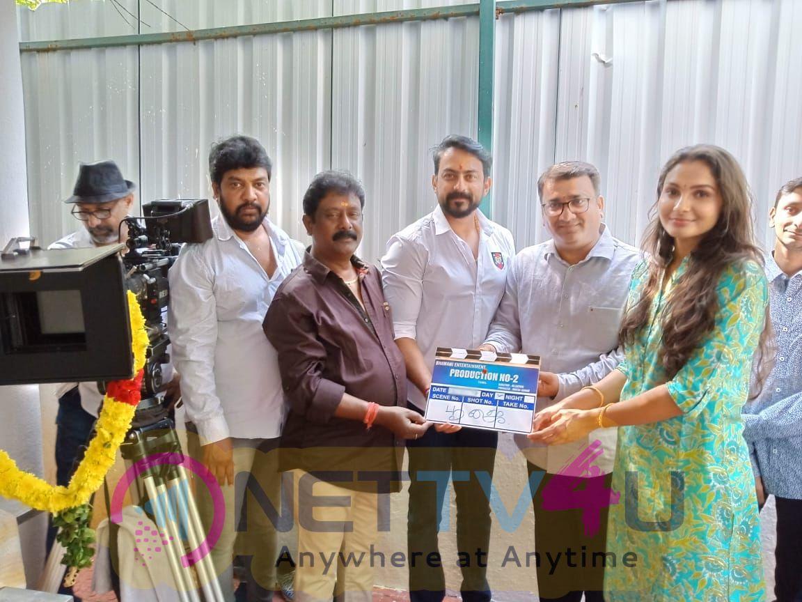Actress Andrea Jeremiah Next Movie Pooja Pics Tamil Gallery