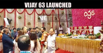 Vijay 63 Launched With A Small Pooja!