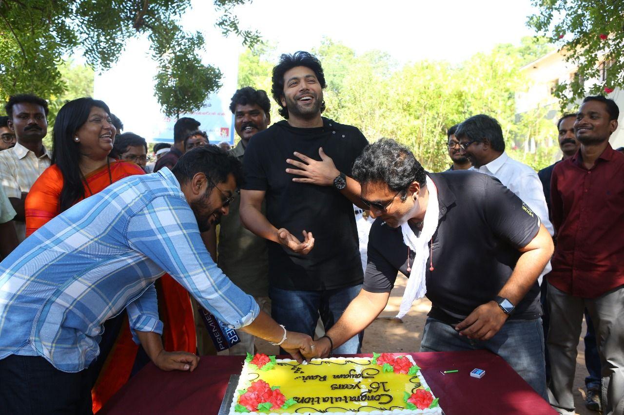 Jayam Ravi 25 Movie Pooja Stills And 16th Years Celebration Images Tamil Gallery