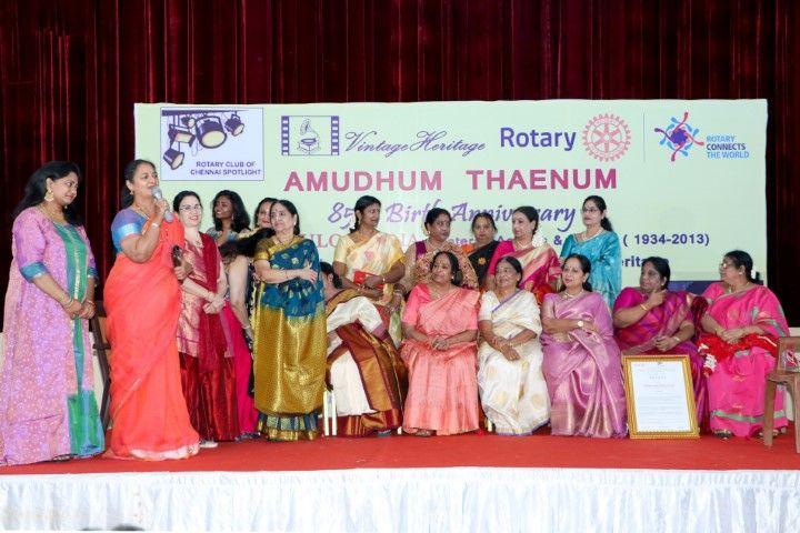 K.R.Vijaya Madam At 85th Birthday Celebrations Photos  Tamil Gallery