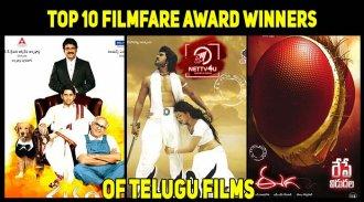 Top 10 Filmfare Award Winners Of Telugu Films