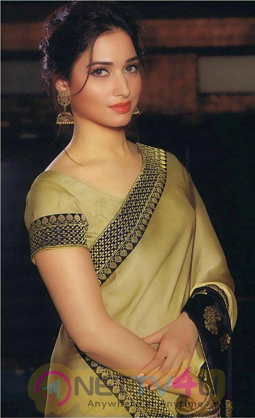 Tamannaah Cute Saree Stills Tamil Gallery