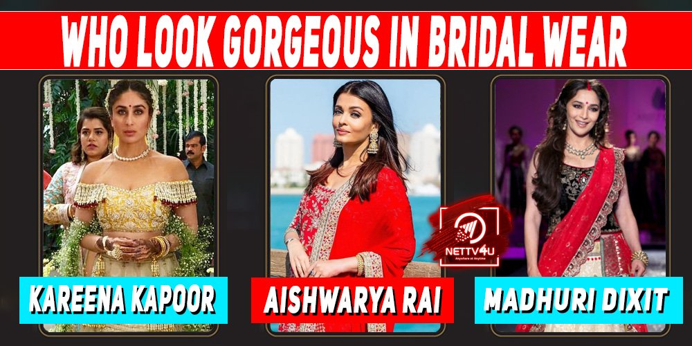 Who Look Gorgeous In Bridal Wear ?