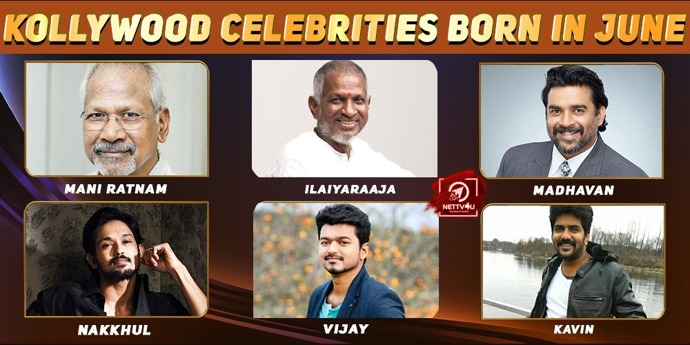 Top Kollywood Celebrities Who Were Born in June