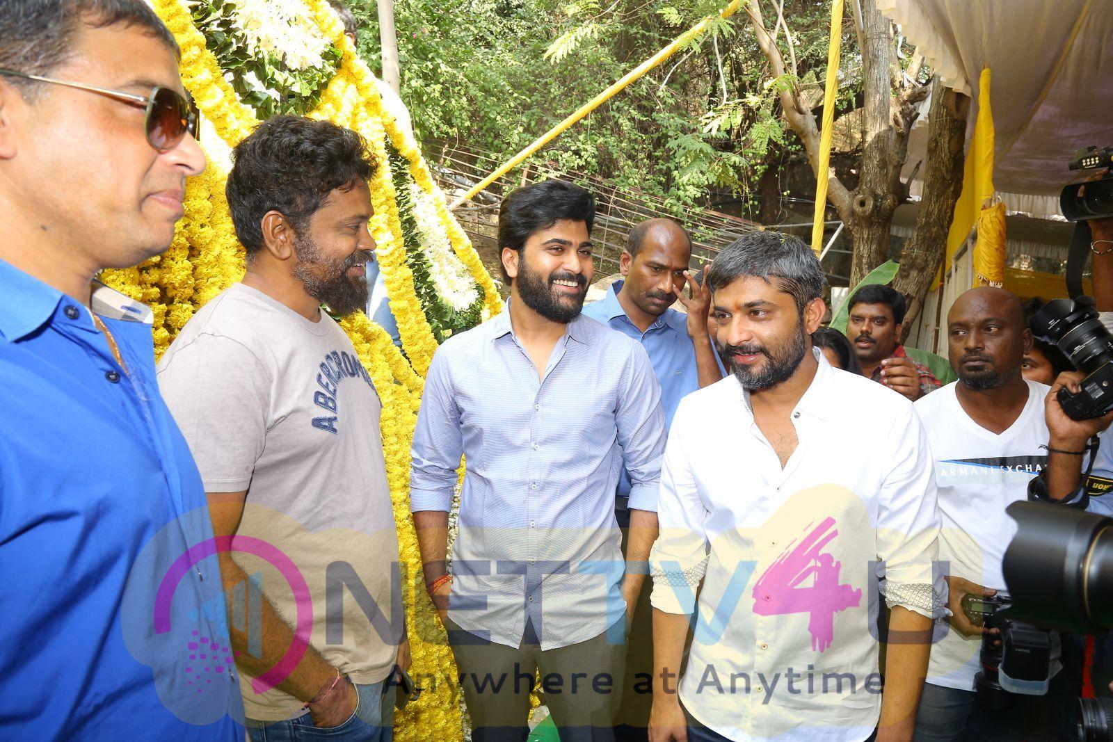 Sharwanand Hanu Raghavapudi Movie Opening Photos Movie Press