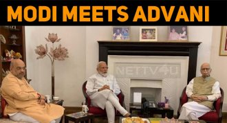 Modi Seeks Blessings From LK Advani!