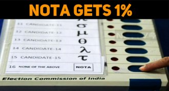 NOTA Gets 1% All Over India!