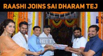 Raashi Joins Sai Dharam Tej!