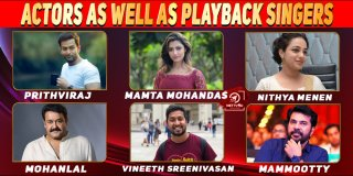 Malayalam Actors As Well As Playback Singers