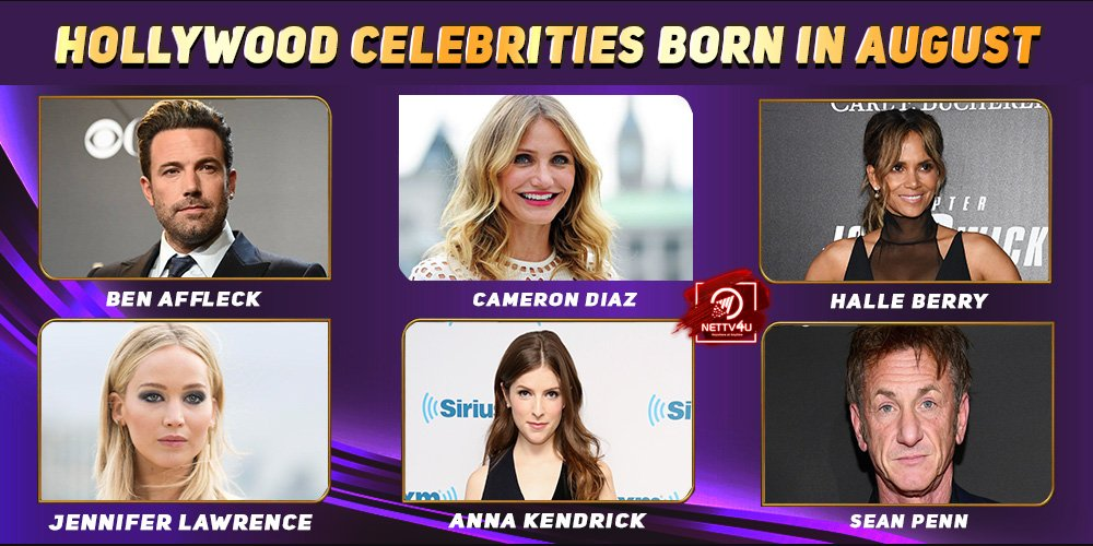 Top Hollywood Celebrities Who Were Born in August