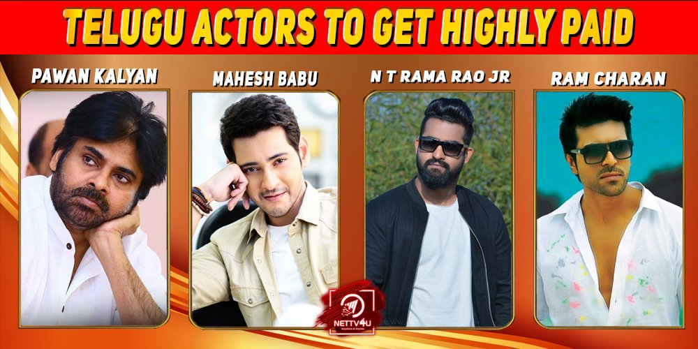 Top 10 Telugu Actors to get highly paid