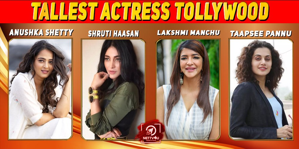 Top 5 Tallest Actress Tollywood