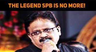 SPB Is No More! Leaves Everyone In Tears!