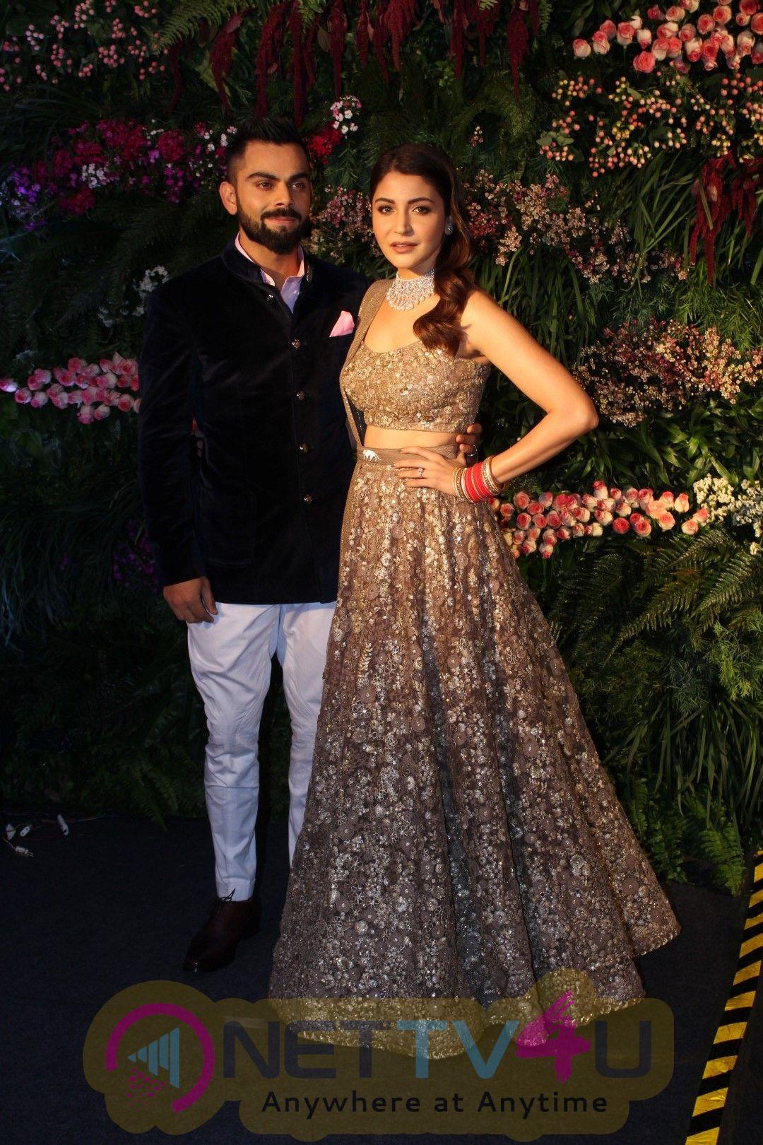 Virat Kohli And Anushka Sharma Wedding Reception In Mumbai Photos  Hindi Gallery