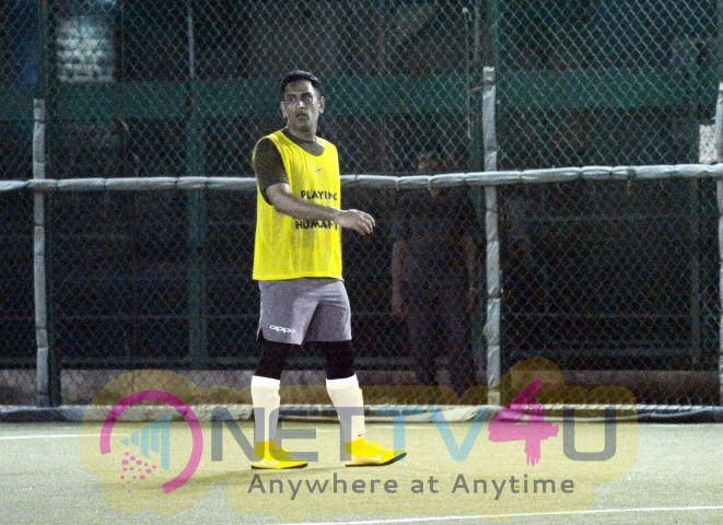Mahendra Singh Dhoni & Ishaan Khattar Playing Football  Hindi Gallery
