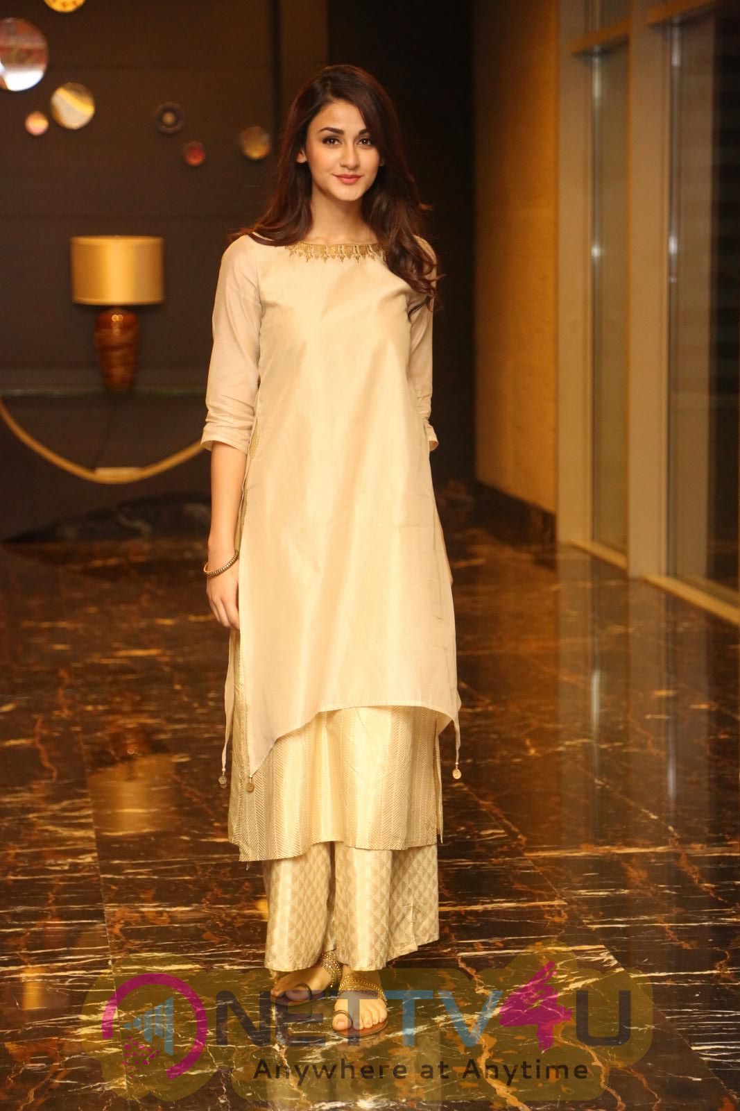 Actress Aditi Arya Cute Images At Kamar Film Factory Logo Launch Telugu Gallery