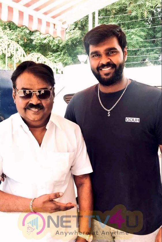 Captain Vijayakanth With Shanmuga Pandian Lovable Images Tamil Gallery